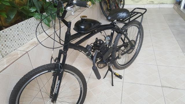 Bicicleta motorizada caiçara aro26 semi nova