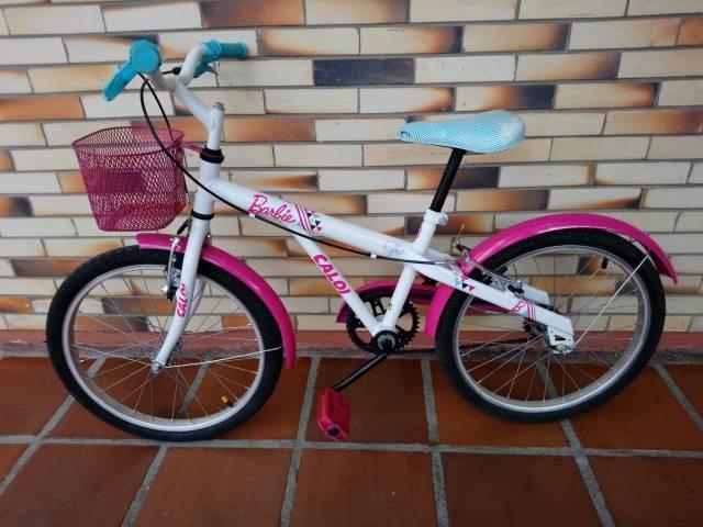 Bicicleta infantil caloi barbie