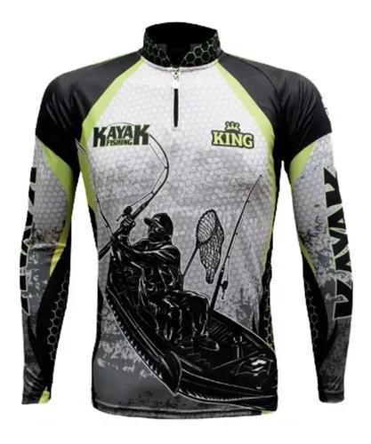 Camisa, camiseta, blusa, de pesca king proteção uv cod.