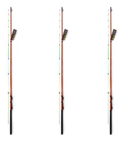 Kit 3 varas pesca ultra light com 1,50 metros tucumã xingu