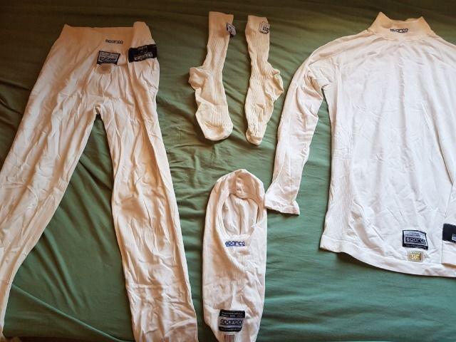 Kit full roupa anti chama sparco nomex