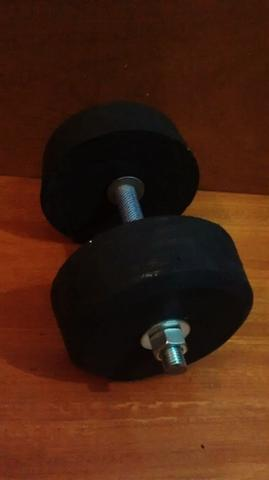 Kit pesos / anilhas caseiras - 40kg academia em casa