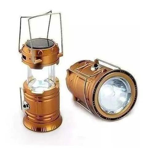 Lampião 30 leds com placa solar e recarrega celular camping