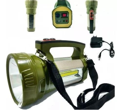 Lanterna holofote solar / portatil led t6 cob potente / jws