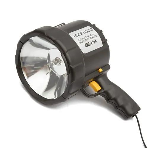 Lanterna tatica 12v ntk foco de mao refletor silibim forte