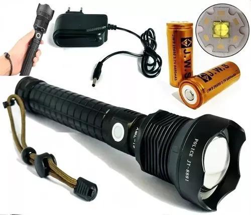 Lanterna tática 5.400.000 lumens led xml t9