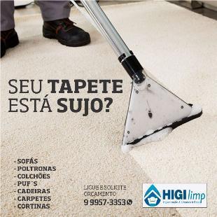 Lavagem de tapetes de sala no sistema delivery