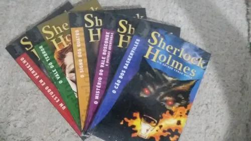 Livro coleção sherlock holmes 5 volumes - sherlock holmes