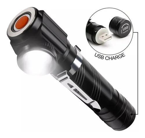 Mini lanterna tática profissional police usb recarregável