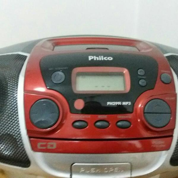 Rádio portátil philco ph299i/cd/mp3/usb/slot card/bivolt.