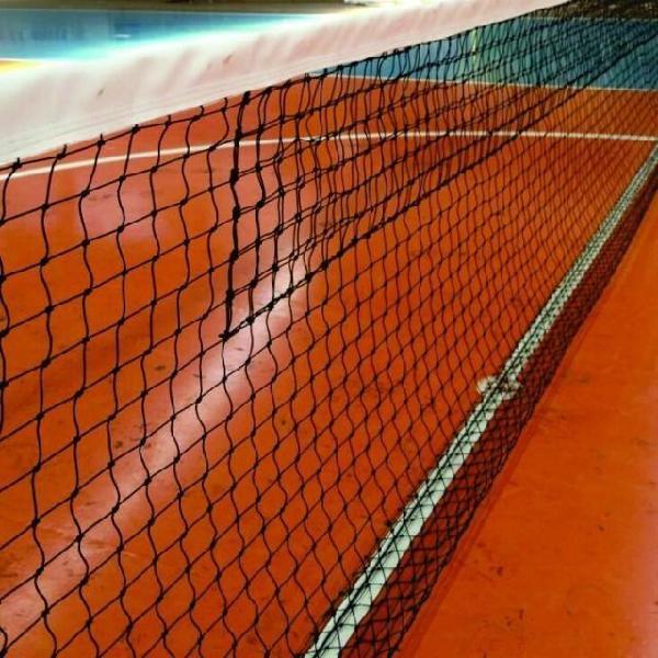 Rede oficial de tênis de quadra - nylon - cor: preto + cabo