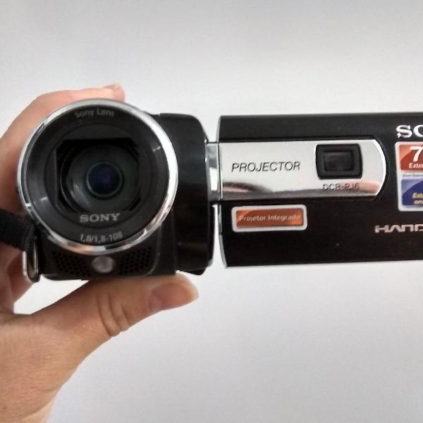 Sony handycam filma e fotografa, zoom de 70x.