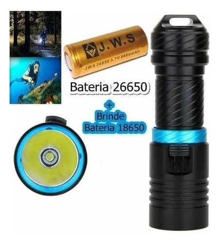 Super lanterna de mergulho t6 50 metros 1800.000w 5300.000l
