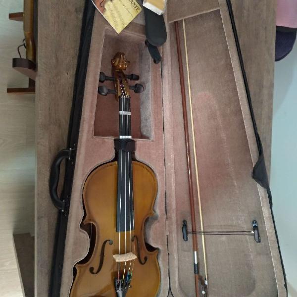 Violino 4/4 dominante com estojo, arco e espaleira