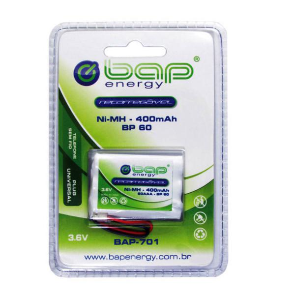 Bateria recarregável bap-701 aaa 400mah telefone sem fio