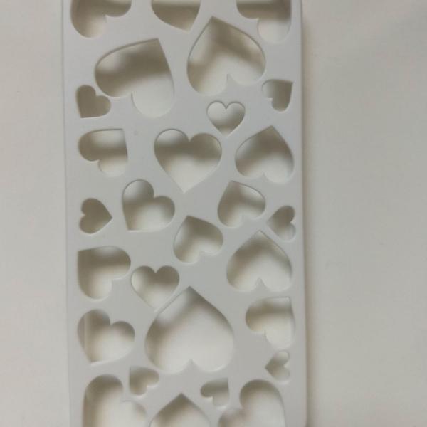 Case/ capinha iphone 5s branca, dura corações