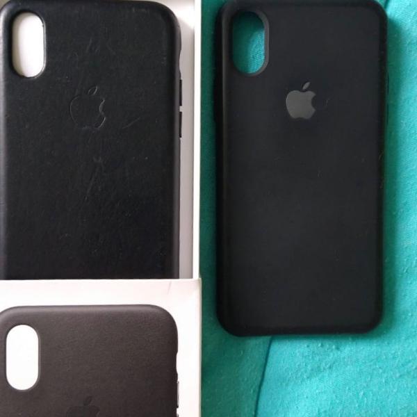 Case de couro iphone x ou xs (capinha)