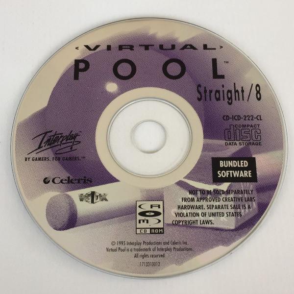 Cd jogo virtual pool de sinuca straight/8 interplay para pc