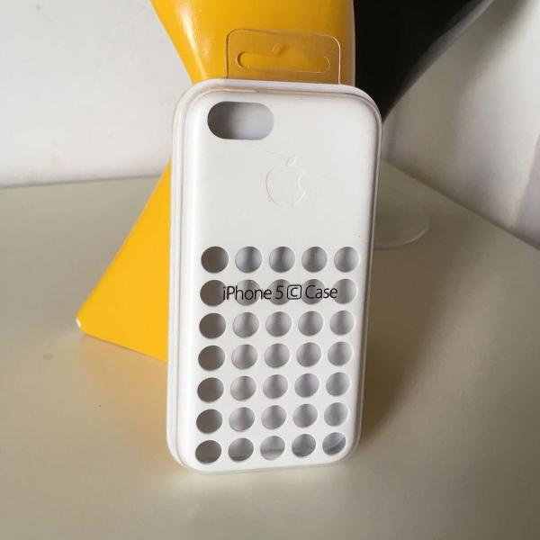 Iphone 5c apple case silicone branco