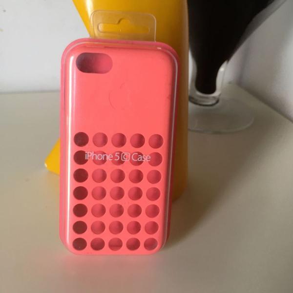 Iphone 5c apple case silicone rosa