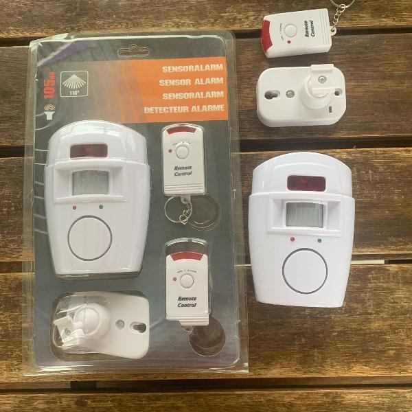 Kit alarme sem fio e controle remoto