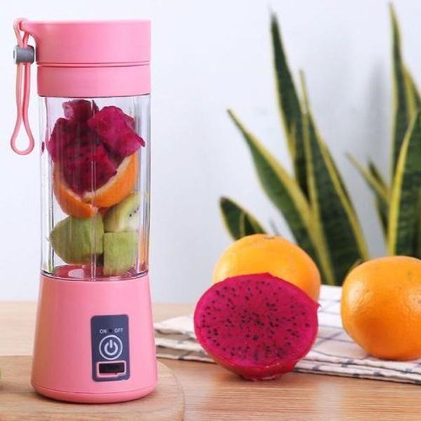 Liquidificador portátil smart juicer rosa bebe ou azul bebe