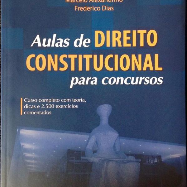 Livro aulas de direito constitucional para concursos