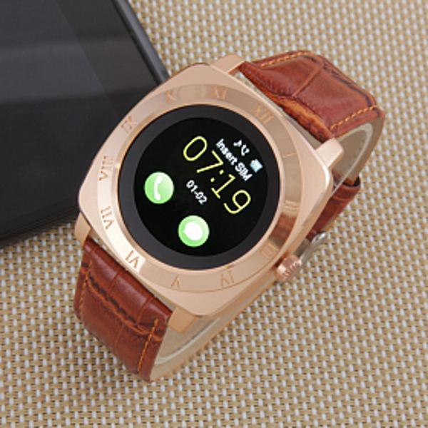 Smartwash iradish x3 brown top estiloso relógio inteligente