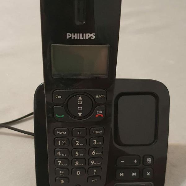 Telefone philips preto
