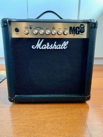 Amplificador marshall mg15r gold 1x8'' 15w com reverb