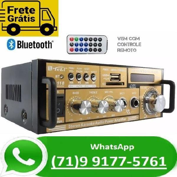 Amplificador receiver potência módulo som bluetooth 2