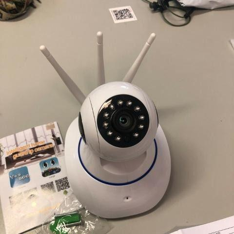Câmera ip 3 antenas wifi visão noturna infravermelho