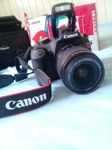 Câmera fotográfica profissional cânon t5 em perfeito