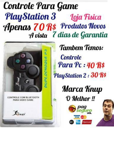 Controle para ps3 e controle de playstation 3 (informações