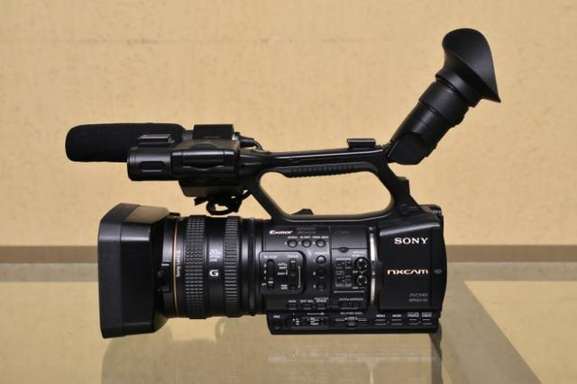 Filmadora sony hxr nx5, ideal para transmissão ao vivo