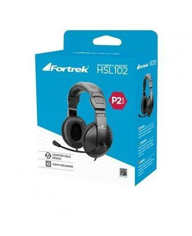 Fone de ouvido c/mic. fortrek hsl-102 - excelente para