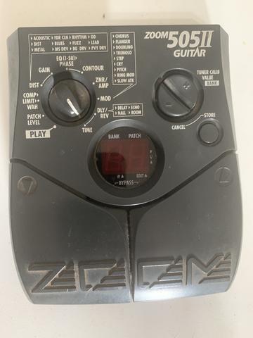 Guitarra e caixa marshall e pedaleira zoom 505