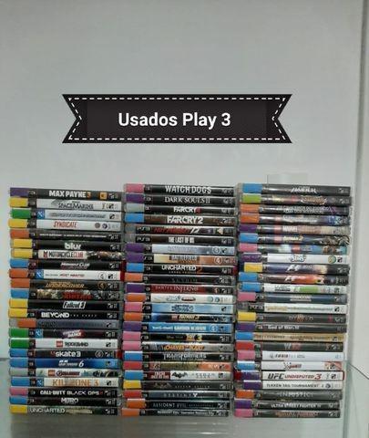 Jogos play 3 usados com garantia - loja física