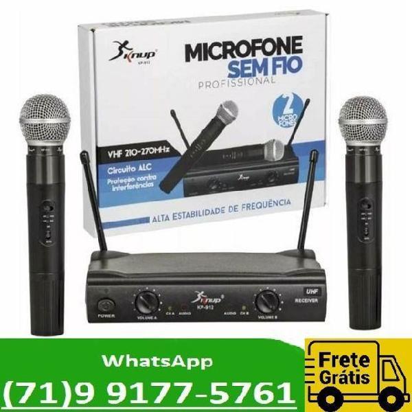 Kit 2 microfones profissional sem fio uhf de alta