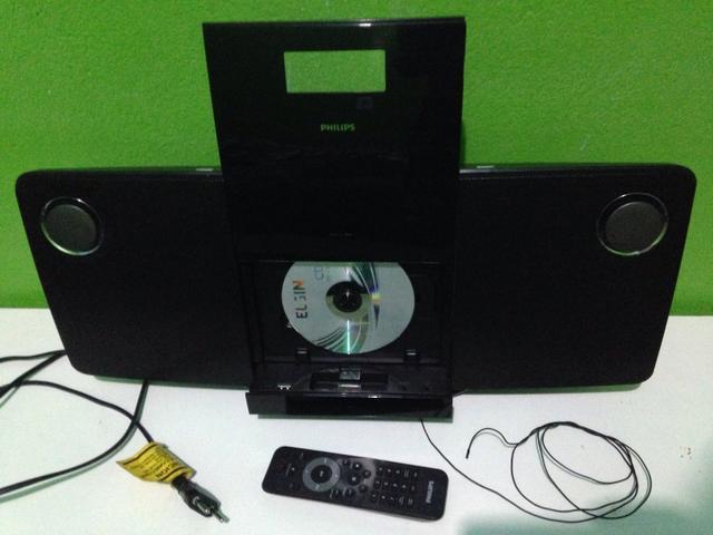 Micro system hi-fi philips preto com dock e usb (dcm276/78