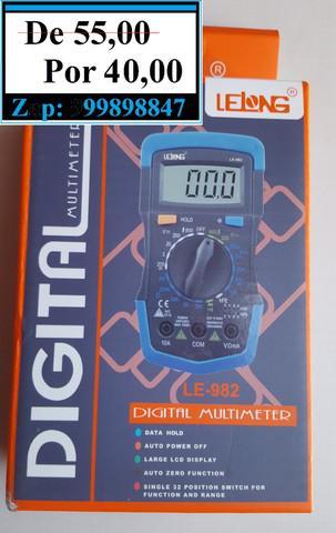 Multimetro digital profissional lelong le-982 (produto novo)