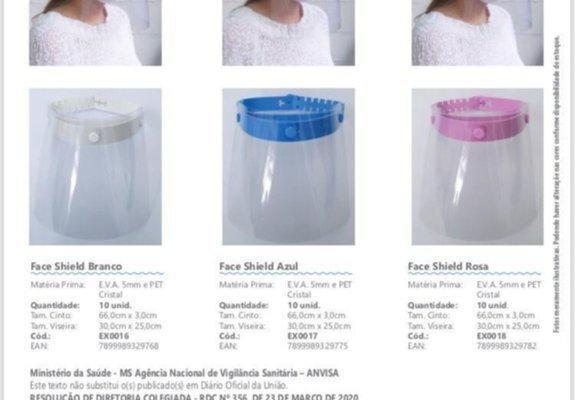 Protetor facial salivar