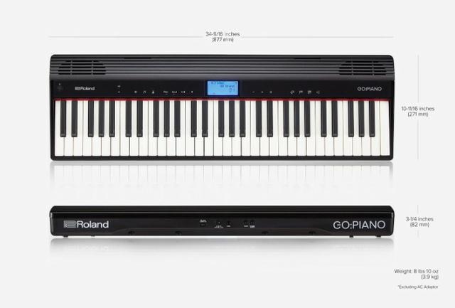 Roland teclado go piano go61p produto novo loja fisica