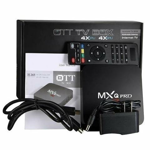 Tv box smart tv original e configurado. processador quadcore
