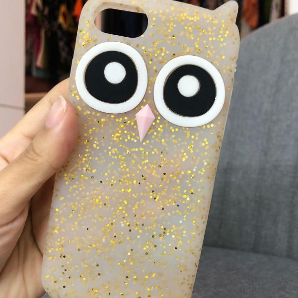 Iphone 8 case coruja emborrachada