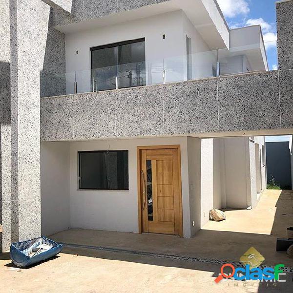 Casa individual 3q 3v bairro planalto
