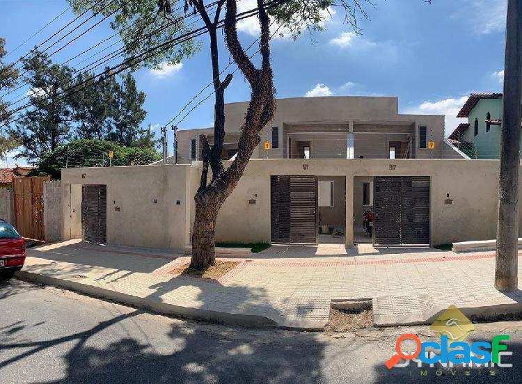 Casa geminada individual 3q 2v bairro santa amélia