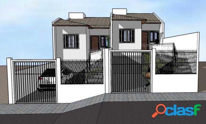 Casas terreas 2 dormitórios com pátio loteamento bela vista