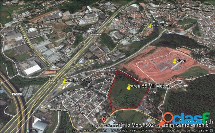 Terreno 55.000 m2 (zeis-2) para incorporação