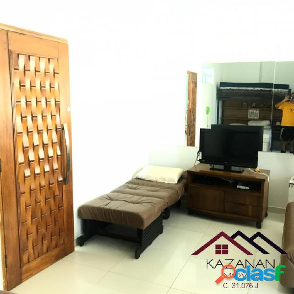 Apartamento 1 dormitório -mobiliado- vaga de garagem - santos